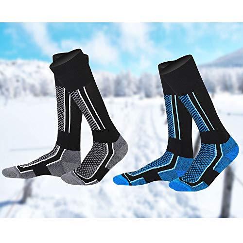 EMAGEREN Calze da Sci da Uomo Calze Termiche Sci Calze Riscaldate Sci Calze Lunghe Termiche Calzini Sportivi Termiche Calze da Sci all'aperto Calzini Sportivi Termiche Invernali