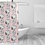 LMHBLTOP Snoopy Duschvorhang, wasserdicht, lustige Badezimmer-Dekoration, 12 x 183 cm, 12 Stück
