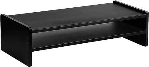 Artiss 2-Tier Monitor Stand Wooden Laptop Screen Riser for Notebook MacBook Computer Game Console Fax