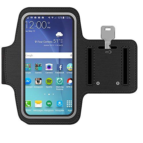 MMOBIEL Sport Armband kompatibel mit Samsung Galaxy S20 FE/S20 (+)/Note 20 (Ultra)/10/9 (+)/M31/M21/M11/A91/A71/A52 /A51/A42/A41/A21-6.8 inch (Schwarz) Soft Stretch reflektierend verstellbar