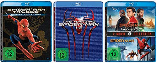 Spider-Man 1+2+3 + The Amazing Spider-Man 1+2 + Spider-Man Homecoming + Spider-Man Far From Home [Blu-ray Set] 7 Discs