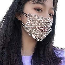 Face Mask Rhinestone Elastic Face Decoration Accessories