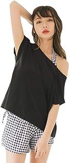 水着 レディース タンキニ 半袖 セパレート 4点セット 体型カバー ショートパンツ ママ水着 大きいサイズ 黒 ブラック 白 ホワイト M L XL 2XL