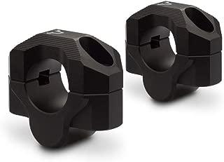 SW-MOTECH Bar riser for Ø 28 mm handlebar H=20 mm. Black. Milled. | LEH.00.039.20201/B