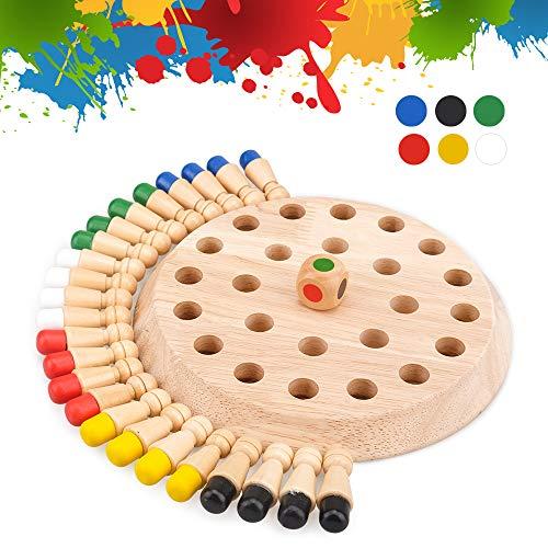 Brettspiele für Kinder Alter 4 5 6, Vorschule Bildungsgeschenke für Kinder Alter 5 6 7 Jungen Mädchen Schach für Kinder Holzgedächtnisspiel Geburtstagsgeschenk für 3-10 Aktivität montessori Spielzeug