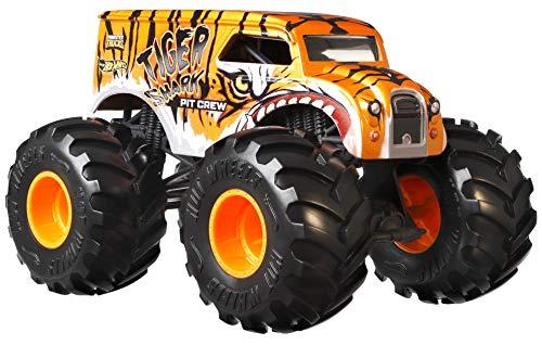Hot Wheels Monster Trucks 1:24 Scale Assortment, Tiger Shark Pit Crew