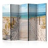 murando Biombo Playa Mar Tropical 225x172 cm de Impresion Unilateral en el Lienzo de...