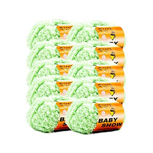 Tricot Café Lot de 10 pelotes de laine, 50% laine, 50% acrylique, bleu ciel 11