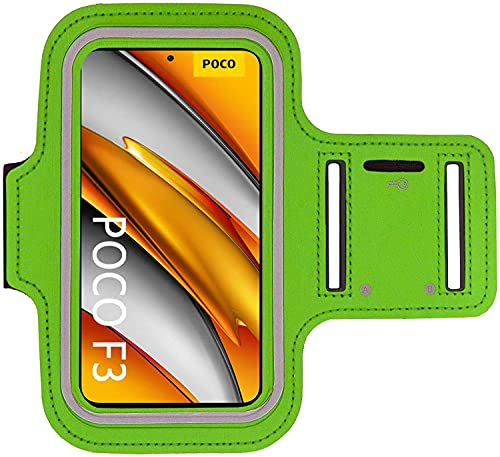 KP TECHNOLOGY Poco F3 - Brazalete para correr, ciclismo, senderismo, piragüismo, caminar, equitación y otros deportes para Xiaomi Poco F3 (verde)