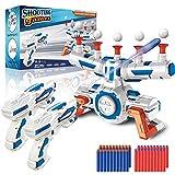 Objetivo de tiro electrónico Nerf, objetivo flotante con 2 pistolas bláster, 10 bolas flotantes, 40 dardos de espuma y 2 pulseras, juguete de juego de disparos, regalos para niños de 5 a 15 años