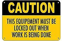注意機器は作業が完了するとロックアウトする必要がありますブリキの看板壁の装飾金属のポスターレトロなプラーク警告看板オフィスカフェクラブバーの工芸品