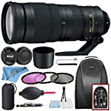 Nikon AF-S NIKKOR 200-500mm f/5.6E ED VR Lens with HB-71 Bayonet Lens Hood, Backpack, 3 Piece Filter (UV, CPL, FLD), Pouch, Cleaning Kit and Zeetech Accessories Bundle