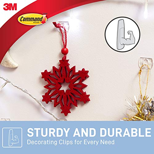 Command 17026CLR Decoration Clips for Christmas and Fairy Light - Clear