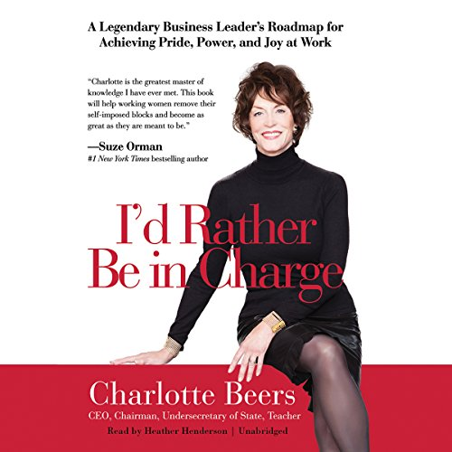 I'd Rather Be in Charge audiobook cover art