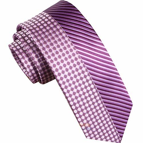 7cm rosa lavanda Violeta Retazos rayas Lunares corbata Diseño clásico corbata hombres fiesta casual trabajo banquete Boda novio caja de regalo