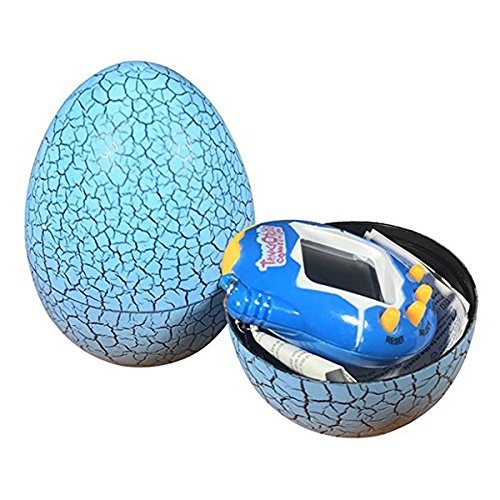 TOOGOO Electronic Pets Child Toy Key Digital Pets Tumbler Dinosaur Egg Virtual Pets Blue