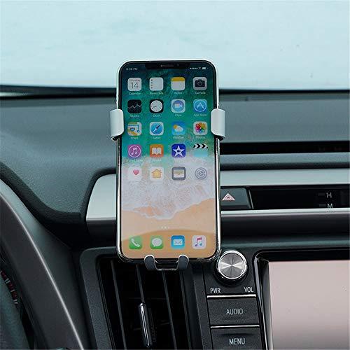 Genericss Soporte de teléfono móvil RAV4 2014-2018 para rejilla de ventilación de coche, accesorio para 14 cm (5,5 pulgadas), color plateado