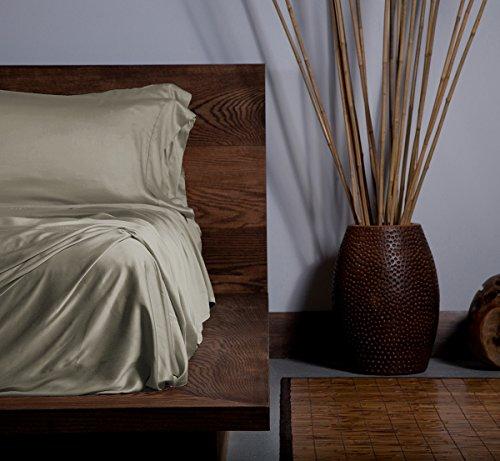 SHEEX Ecosheex Bamboo Origin Sheet Set with 2 Pillowcases, Luxury Sateen, Taupe, California King