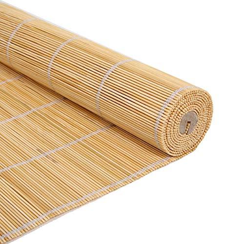 Bambusrollo, Außenrollläden im japanischen Stil - Bamboo Blackout Sun Shade for Pavillon/Tür/Balkon/Terrasse, 60/80/100/120 / 150cm breit (Size : W60cm X H100cm)