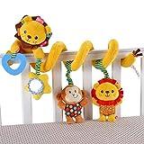 JZDTMMAN Baby Pram Crib, Cute Design Activity Spiral Plush Toy , Stroller Travel