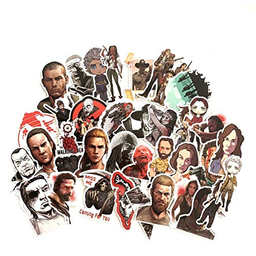 ZFHH 50Pcs The Walking Dead Stickers For Suitcase Skateboard Laptop Luggage Fridge Phone Car Styling DIY Decal Sticker