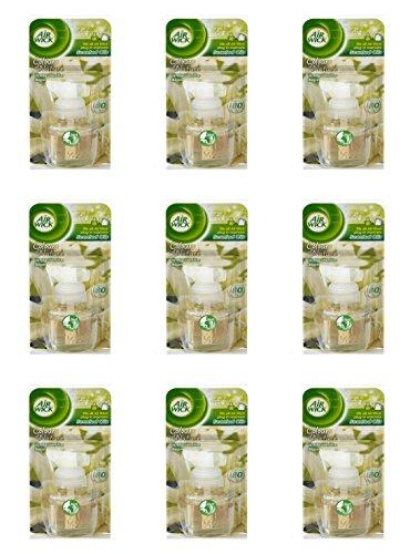 9 recambios para Air Wick difusor eléctrico vainilla y té blanco