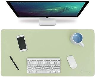 BIKUUL Large Desk Pad, Non-Slip PU Leather Desk Mouse Pad Waterproof, Dual-Side Use Desk Writing Mat for Office Home, 60cm...