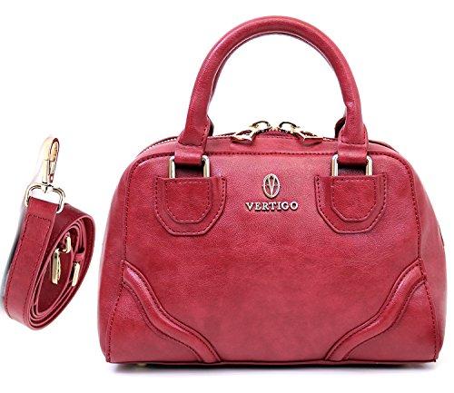 Vertigo Paris Dina Small Satchel Bag - Red