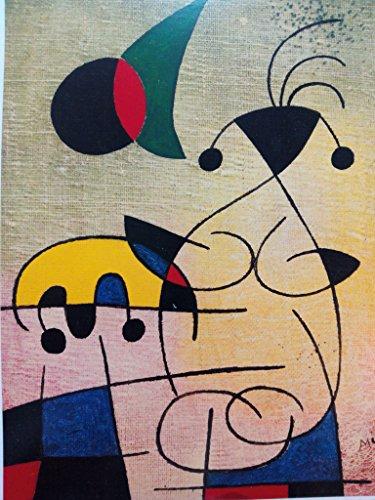 Ediciones BLOK 42 x 45 cms Art Poster Print Affiches Kunstdruck Lámina Arte. Joan Miró
