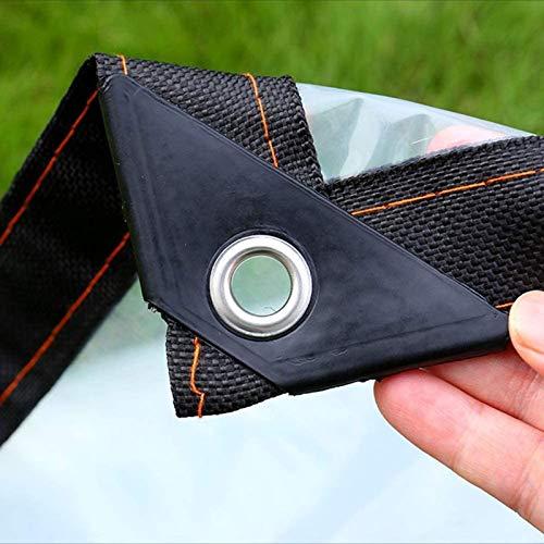 JX-PEP Lona transparente con ojales, toldos y lonas, lona impermeable para coche, barco, camping, leña, camping, caza, pesca o justo alrededor del patio, 4 x 4 m