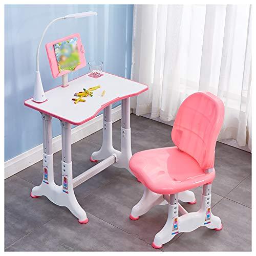 EMYU - Juego de sillas de estudio ergonómicas para niños, mesa de estudio multifuncional y altura ajustable y silla para estudiantes