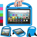 LEDNICEKER Kids Case for All-New Fire HD 8 & Plus 2020 - Lightweight Shockproof Handle with Stand Kid-Proof Case for Amazon Fire HD 8 inch Tablets (Latest 10th Generation 2020 Release) - Blue
