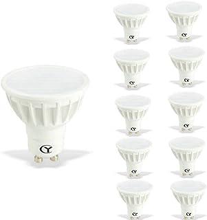 CY LED 6W MR16 GU10 LED Bulbs, 50W Halogen Bulbs Equivalent, 500lm,Cool White 6000K, 120°Beam Angle, Recessed Lighting, Tr...