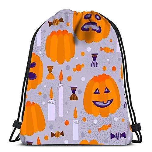 IUBBKI - Zaino con coulisse resistente, stile cartone animato, per Halloween, biglietti di invito