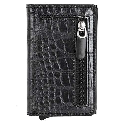 Monedero antirrobo, billetera de cuero PU, hebilla magnética para viajes al aire libre