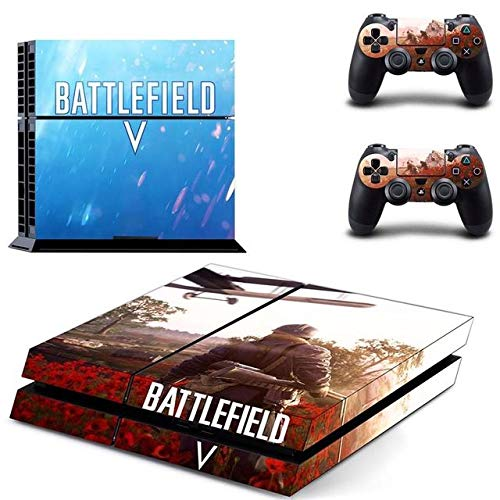 World War - PS4 Skin Console and 2 Controller, Vinyl Decal Sticker Full Cover Protective by QUATLAMSHOP(Only PlayStation 4)