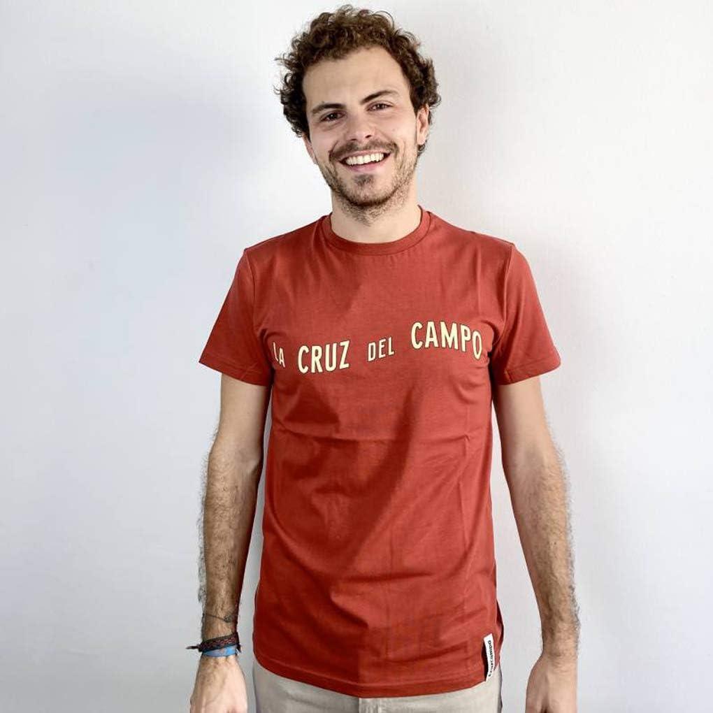 Cruzcampo Mens Camiseta La Cruz Del Campo Red Man T-Shirt