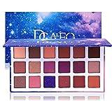 Brillo Metal Brillo Mate 18 Colores de Sombra de Ojos Combinación Ahumada Con Paleta de Maquillaje de Cielo Estrellado Cosméticos