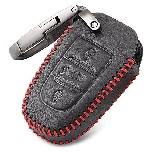Funda de Cuero para Llave remota de Coche para Peugeot 308408508 2008 3008 4008 5008 Citroen C4 C4L C6 C3-XR Accesorios
