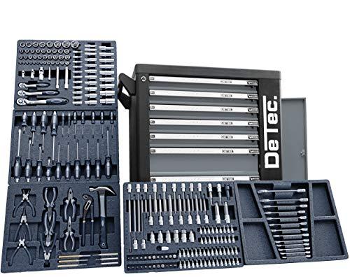 XXL Special Edition Werkstattwagen Werkzeugwagen grau - 5 von 7 Schubladen gefüllt mit Werkzeug -...