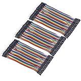 VKLSVAN 3個 40本 10CM 多色40ピン デュポン ワイヤー ジャンパー ブレッドボード 接続ワイヤー (オス-メス) ArduinoとRaspberry piに適用(合計120本)