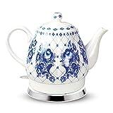 Design porcellana bollitore Gzhel 1,7l. elettrico Teiera in Ceramica фарфор