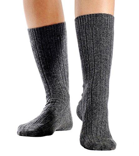 Cashmere Boutique: 100% Pure Cashmere Unisex Socks (Color: Black, Size: Small/Medium)