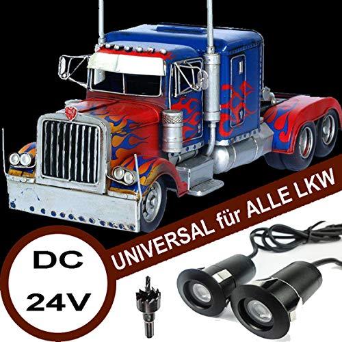 VAWAR LKW Autotür Logo Licht, DC 24V LED Projektor, Ghost Shadow Willkommen Einstiegsbeleuchtung, 5th Gen. Geist Schatten Lampe, universal for Alle Kraftwagen Lastzug Laster
