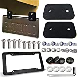 Wesbar License Plates & Frames - ZXFOOG Rubber Trailer License Plate Bracket-Trailer/Truck License Plate Light Bracket and License Plate Frame Carbon Fiber ,Universal Front Bracket for Boat Trailer with Stainless Steel Plate Screws