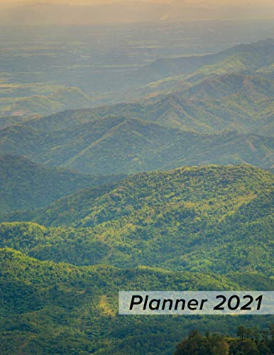 Planner 2021: Sprawling Hills - Daily Weekly Monthly 1 Year Agenda Schedule Organizer - Christmas Gift for Women, Men, Coworkers, Friends