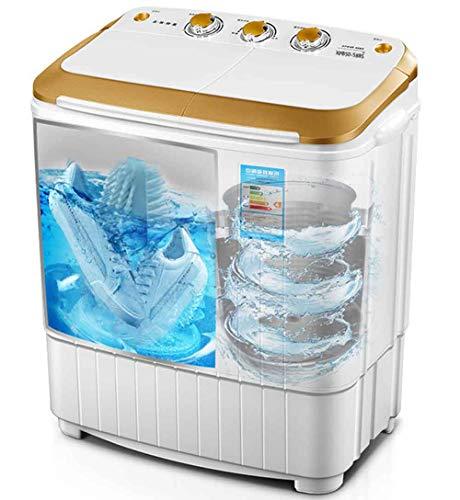 WsHry Mini-wasmachine, draagbare en compacte wasmachine, centrifugedroger, zwaartekrachtafvoer, aparte timer voor eenvoudige bediening, ruimtebesparend voor woning, hotel, thuis