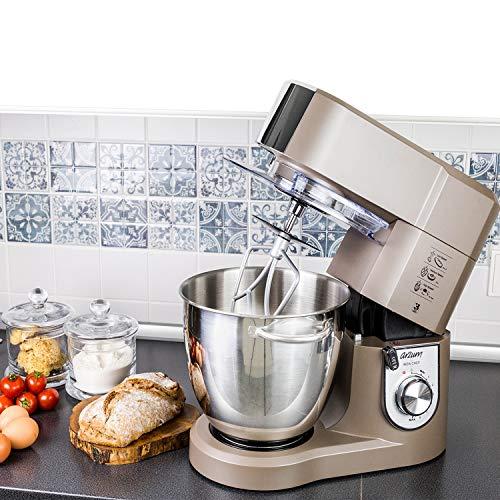 Arzum Allround Stand Mixer Iron Chef Edelstahl in Beige 1500 Watt 6,7Liter