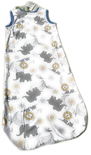 Ventilkappenkönig Baby Schlafsack Bio Baumwolle Strampelsack Pucksack Neugeborene Kleinkind 0-24 Monate Stern Vogel Ballon Dino Löwe Elefant 70cm 90cm 110cm (70cm, Löwe+Elefant)