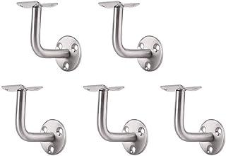 blanco, 6 x 10 x 5 cm DOITOOL 3 soportes de pasamanos de acero inoxidable para escaleras montados en la pared para barandilla de madera o metal